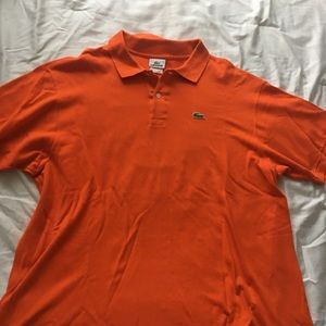 Orange Men's Lacoste polo